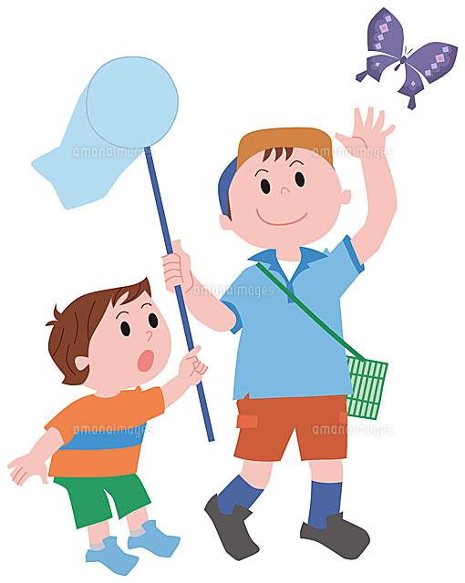 虫取りをする子供11002054805の写真素材イラスト素材アマナイメージズ