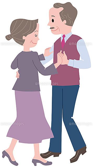 社交ダンスをするシニア夫婦11002054919の写真素材イラスト素材