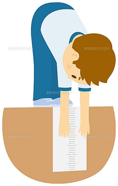 立位体前屈をする男子中学生11002055124の写真素材イラスト素材