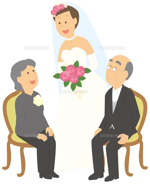 孫の結婚式に出席する老夫婦11002062618の写真素材イラスト素材