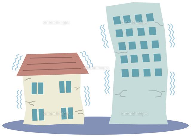 地震で揺れる建物11002064415の写真素材イラスト素材アマナイメージズ