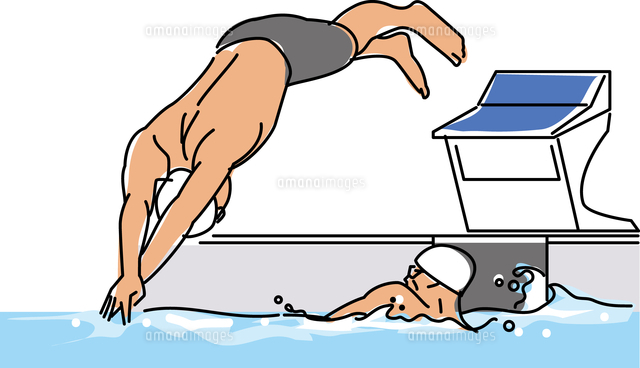競泳競技 リレー11002066038の写真素材イラスト素材アマナイメージズ