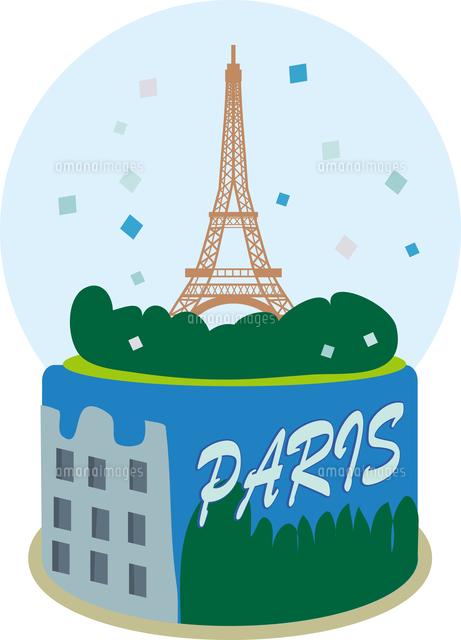 パリのお土産のスノードーム11002067018の写真素材イラスト素材