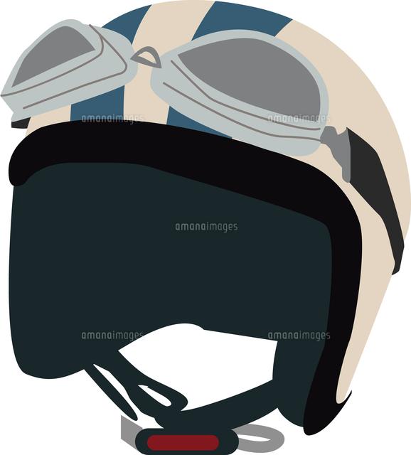 バイクのヘルメットとゴーグル11002067059の写真素材イラスト素材