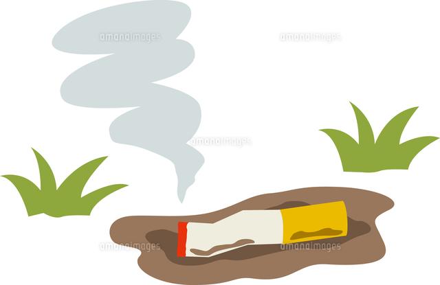 タバコのポイ捨て11002067138の写真素材イラスト素材アマナイメージズ