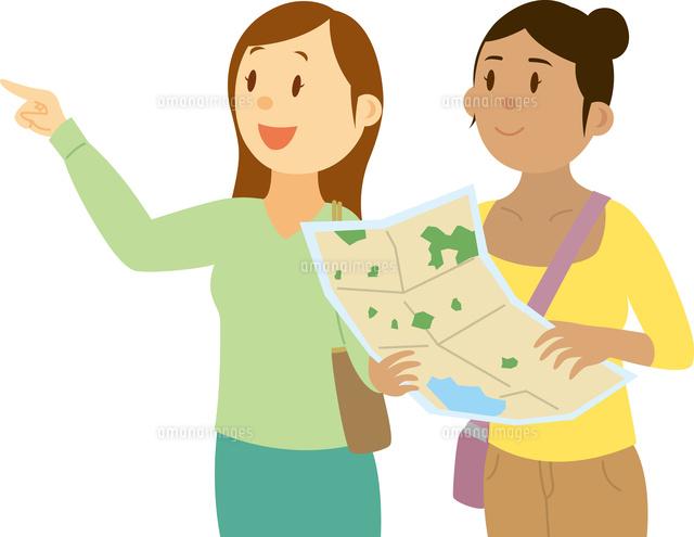 地図を持って道を尋ねる東南アジア系女性[11002068765]の写真素材 ...