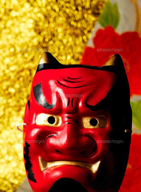 赤鬼のお面11004018482の写真素材イラスト素材アマナイメージズ