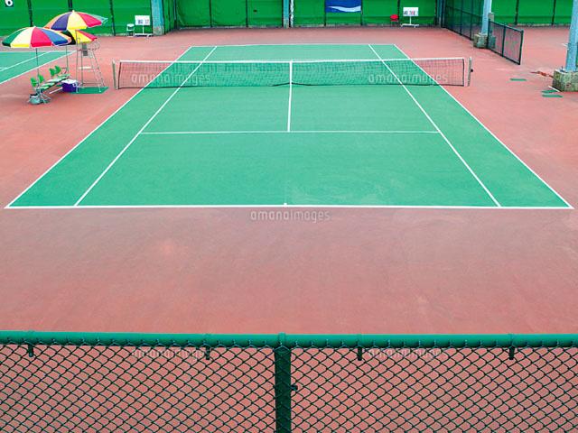 テニスコート11010002530の写真素材イラスト素材アマナイメージズ