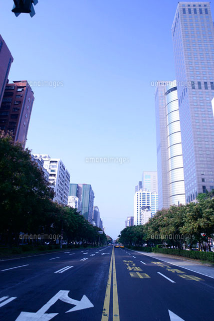 Street and office buildings in Taipei
