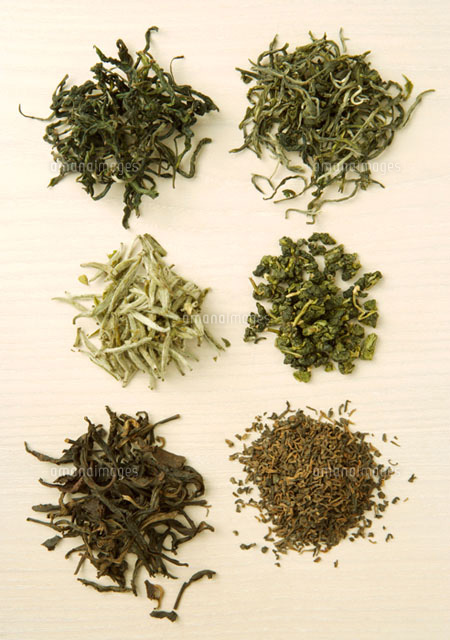 Six assortments of dried tea
