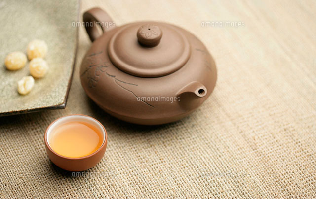 Chinese tea and candied lotus seed