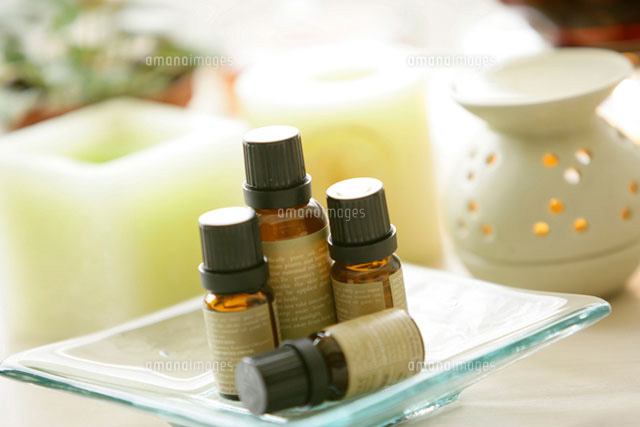 aroma therapy utensils on table