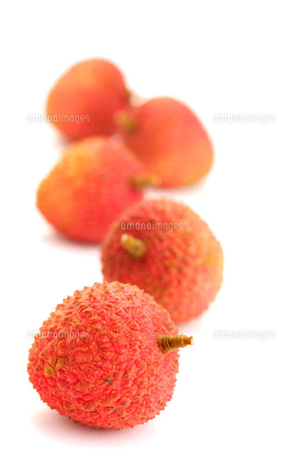 Lychees in a row