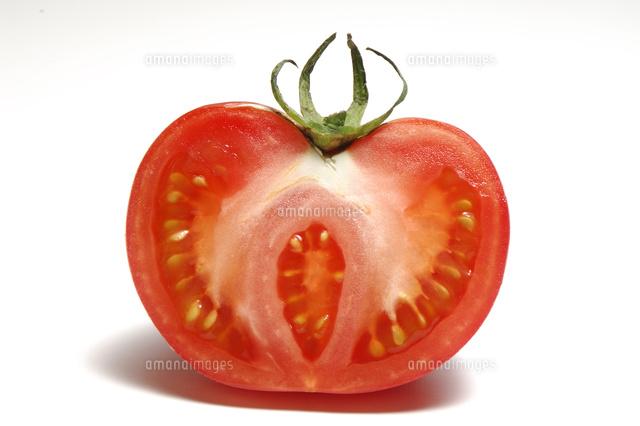 トマトの断面 の写真素材 イラスト素材 アマナイメージズ
