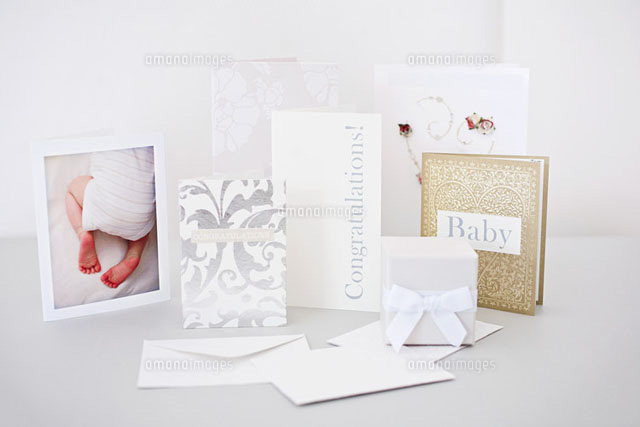 New baby cards and gifts