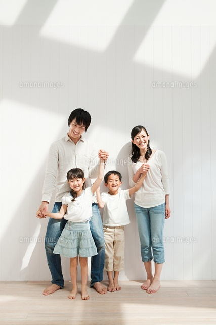 Family with two children, portrait