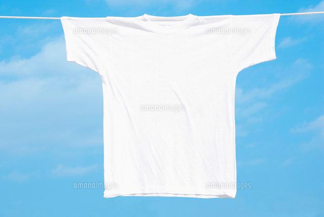 青空とtシャツ11017001708の写真素材イラスト素材アマナイメージズ