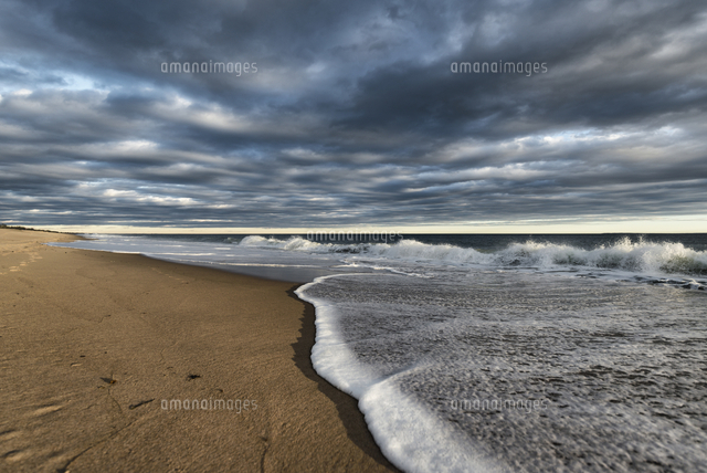 Clouds over ocean beach