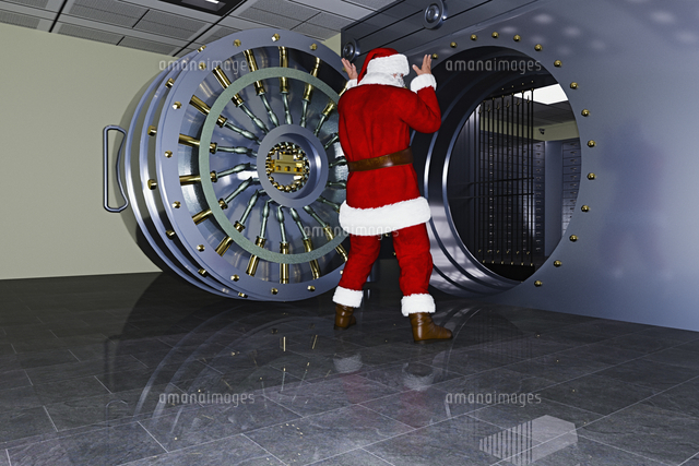 Santa surprised at empty vault