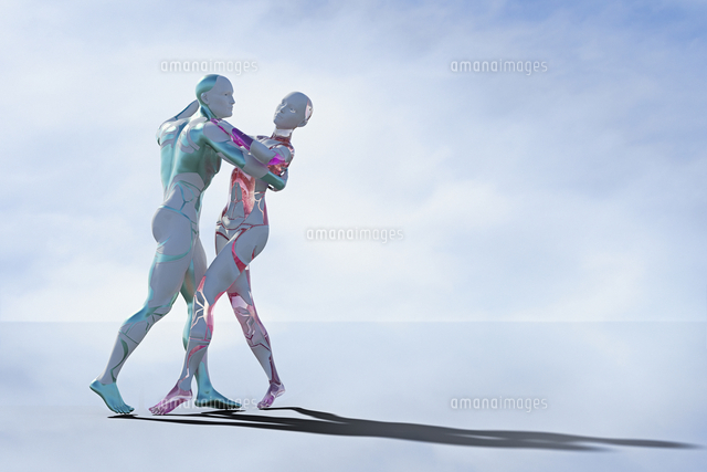 Robot couple dancing