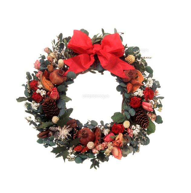 クリスマスリース11019002280の写真素材イラスト素材アマナイメージズ