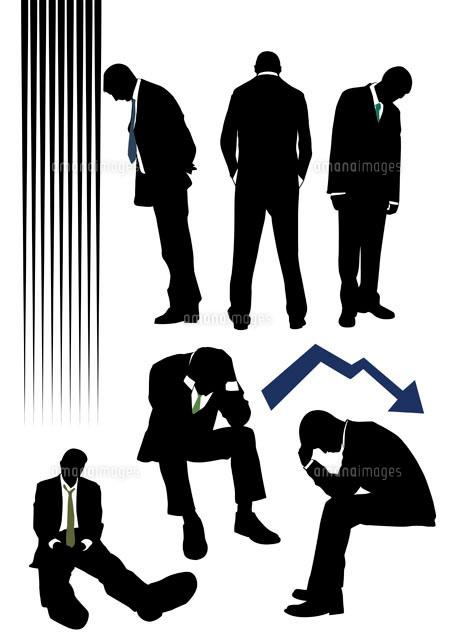 落胆するビジネスマン11026005038の写真素材イラスト素材アマナ