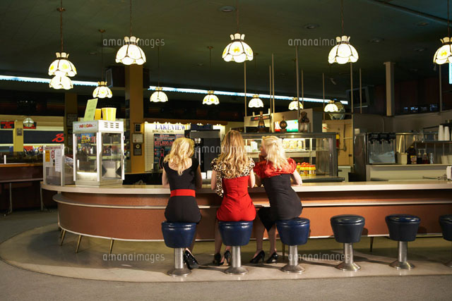 Women in Retro Diner