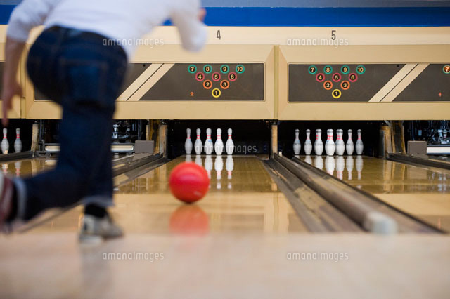 Man Bowling,Spring Hill,Florida,USA
