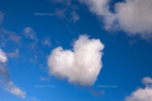 Digitally Altered Heart-Shaped Cloud