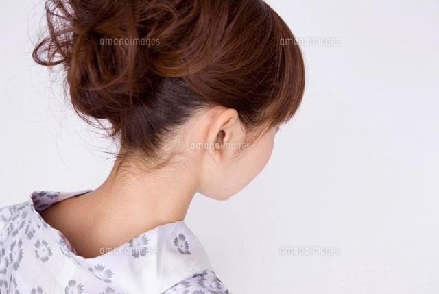 浴衣を着た女性のうなじ11031047372の写真素材イラスト素材アマナ