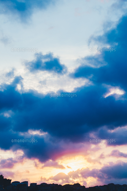 Sky background with clouds as nature texture