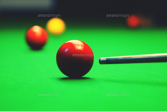 Close-up Of Billiards Ball On Table