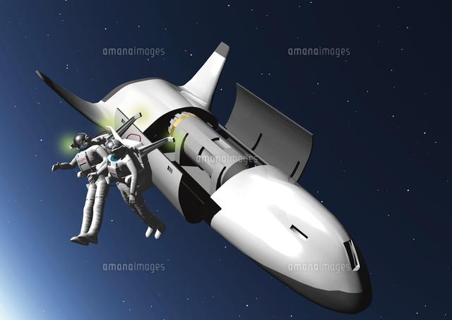 宇宙船と宇宙飛行士のcgイメージ28144096275の写真素材イラスト