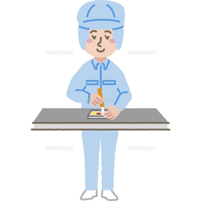 組み立て工場で働く作業員[60001000122]の写真素材・イラスト素材|アマナイメージズ