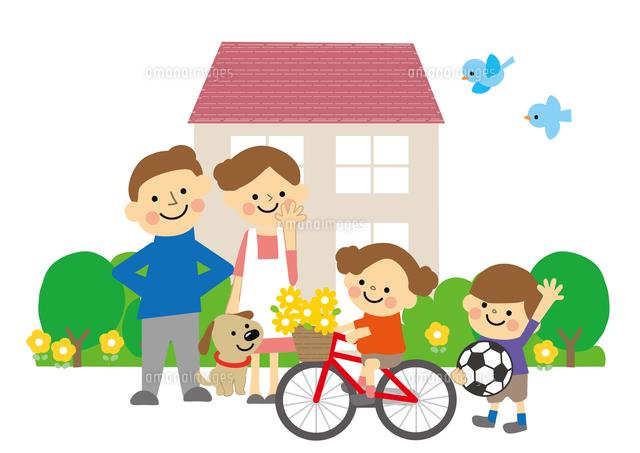家族と家60002000042の写真素材イラスト素材アマナイメージズ