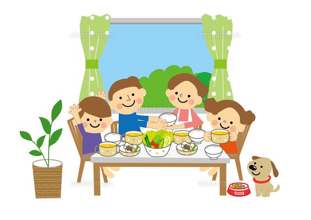 家族親子 食事60002000098の写真素材イラスト素材アマナイメージズ
