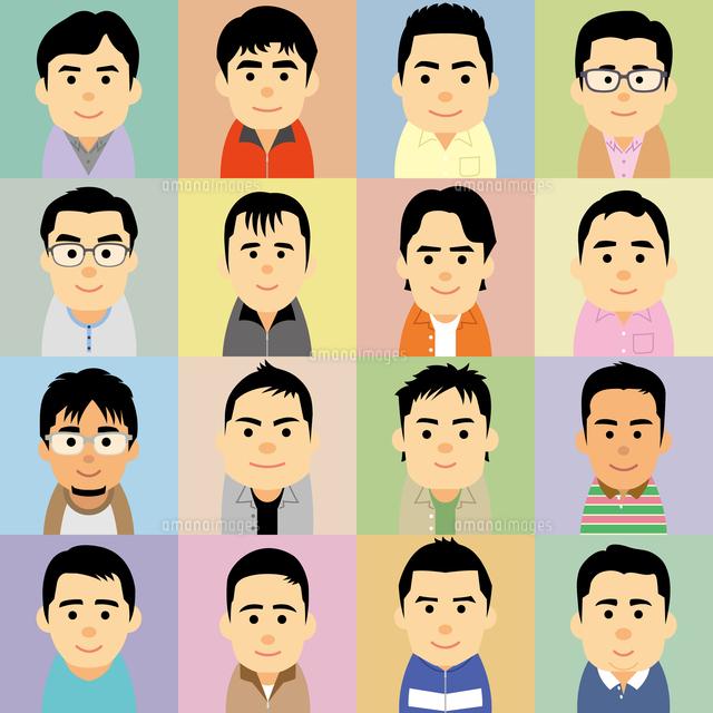 中年男性の集合イラスト60008000209の写真素材イラスト素材アマナ
