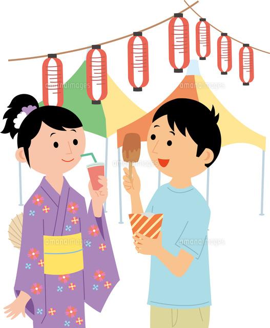 お祭りイベントの集客60008000527の写真素材イラスト素材アマナ