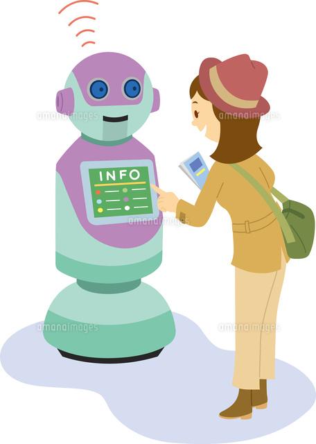 観光案内をするロボット60008000548の写真素材イラスト素材アマナ