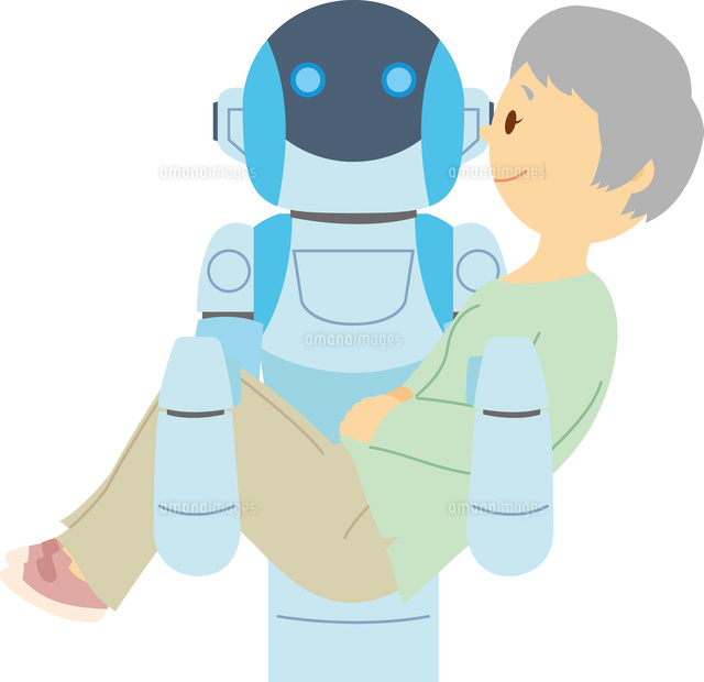要介護者を運ぶ介護ロボット60008000554の写真素材イラスト素材