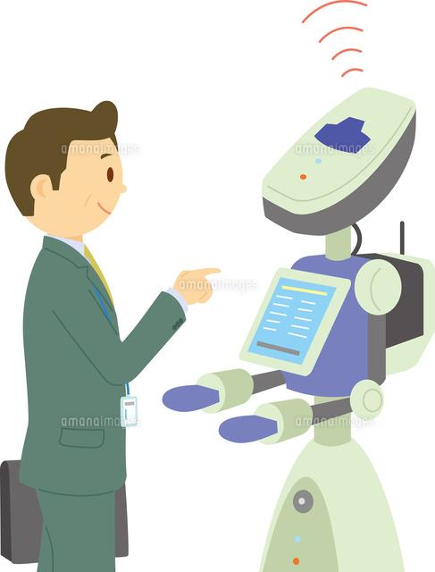展示会で案内をするロボット60008000623の写真素材イラスト素材