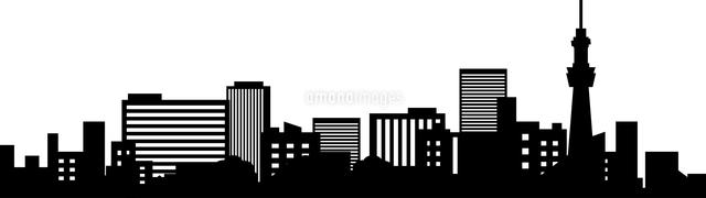 都会のビル群のシルエット