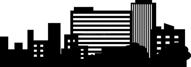 都会のビル群のシルエット[60009000035]の写真素材・イラスト