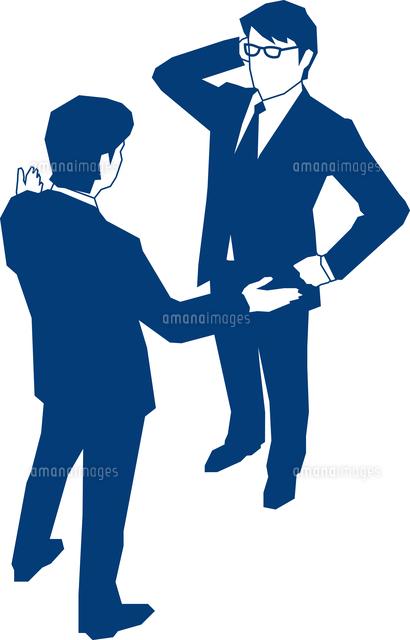 会話をする二人のビジネスマン60009000163の写真素材イラスト素材