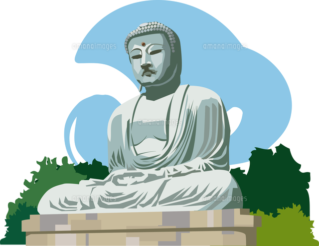 鎌倉の大仏60009000282の写真素材イラスト素材アマナ