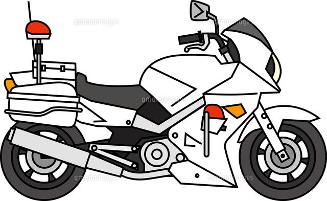白バイ60009000771の写真素材イラスト素材アマナイメージズ
