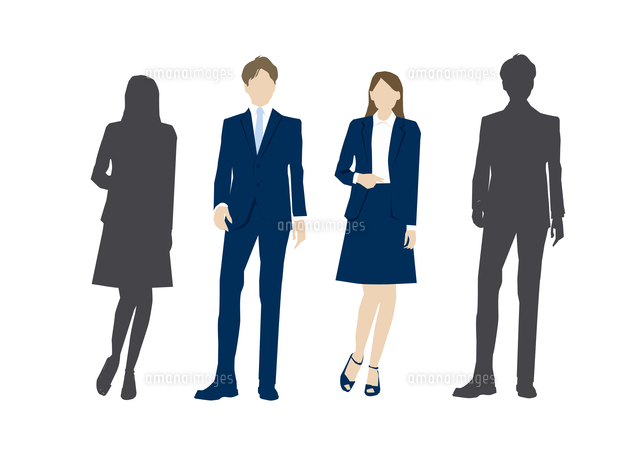 スーツ姿の男性と女性 60013000004 の写真素材 イラスト素材 アマナイメージズ
