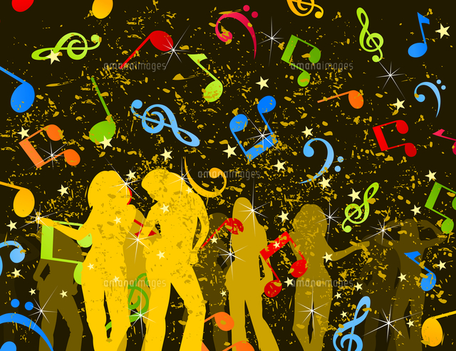 Disco6 Girls Dance In A Disco A Vector Illustration60016025659の