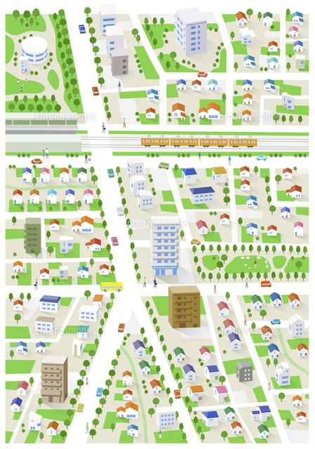 街住宅街地図60025000002の写真素材イラスト素材アマナイメージズ