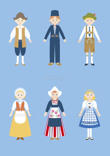 世界の民族衣装ベルギーオランダドイツ60026000017の写真素材